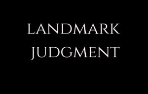 landmark judgement LAW INSIDER IN