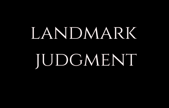 landmark judgement LAW INSIDER IN