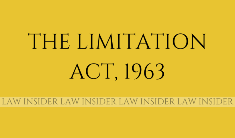 THE LIMITATION ACT LAW INSIDER