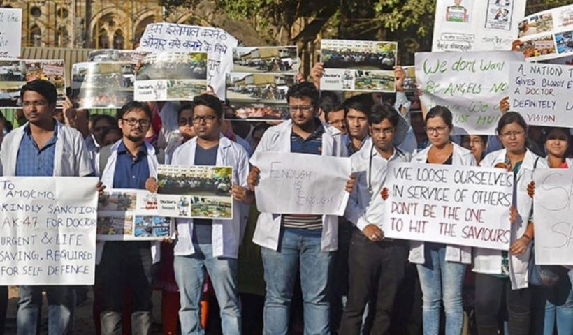 Doctors Protest Law Insider IN
