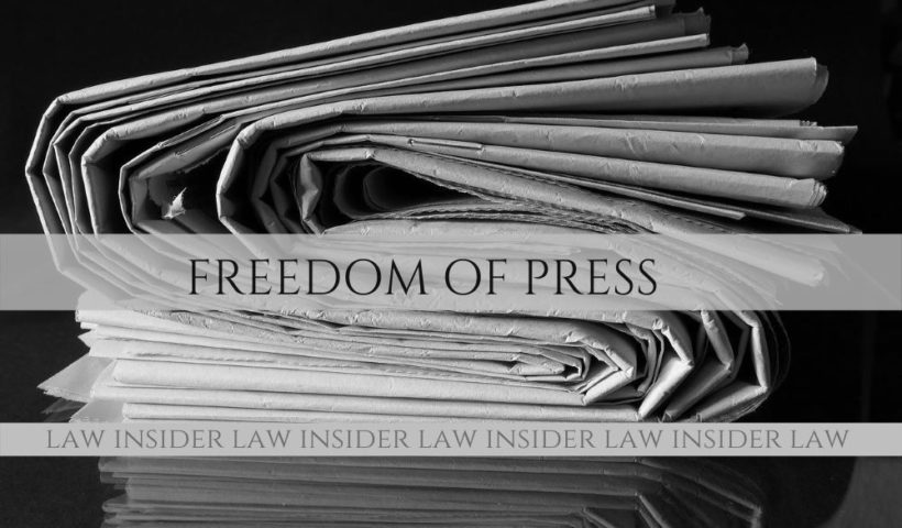 Freedom of Press Law Insider IN