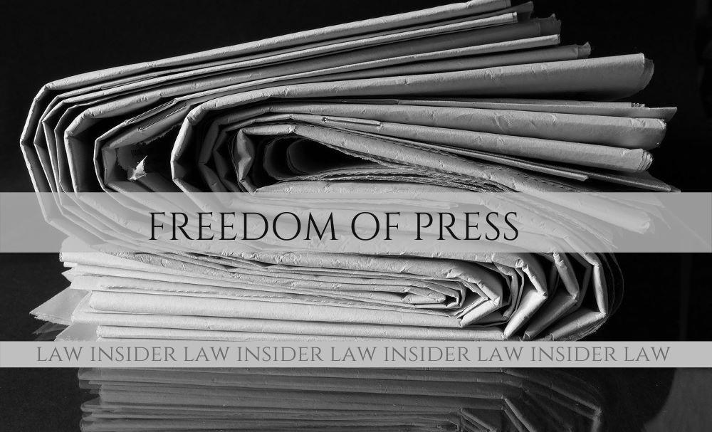 Freedom of Press Law Insider IN