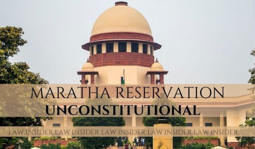 Maratha reservation Law Insider IN