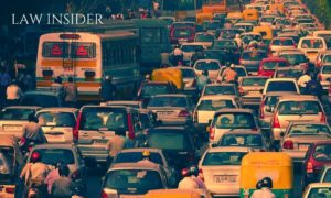 Delhi traffic jam in the evening, peek hours road blockage, road accidents