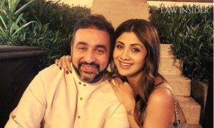 Raj Kundra with his wife and Bollywood Actress Shilpa Shetty Kundra on a festival day
