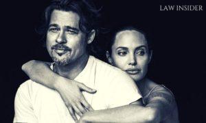 Angeline Jolie & Brad Pitt, Angeline hugging Brad Pitt from behind