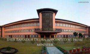 Building Sher Bahadur Deuba Prime Minister appointment