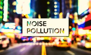 Noise Pollution, road and vehicles in the background