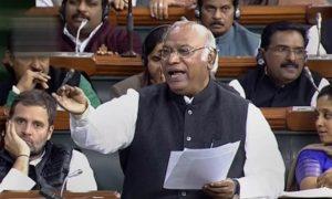 mallikarjun kharge in parliament
