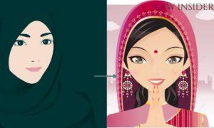 muslim woman hindu woman conversion smiling
