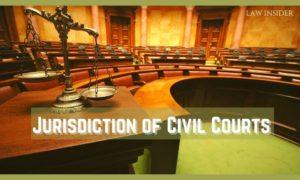 Jurisdiction of Civil Courts - LAW INSIDER