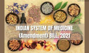 Indian system of medicine bill - LAW INSIDER