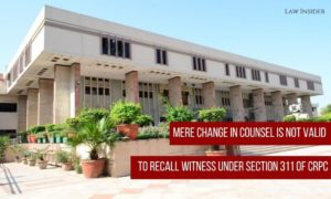 Delhi High Court CrPC Witness Valid