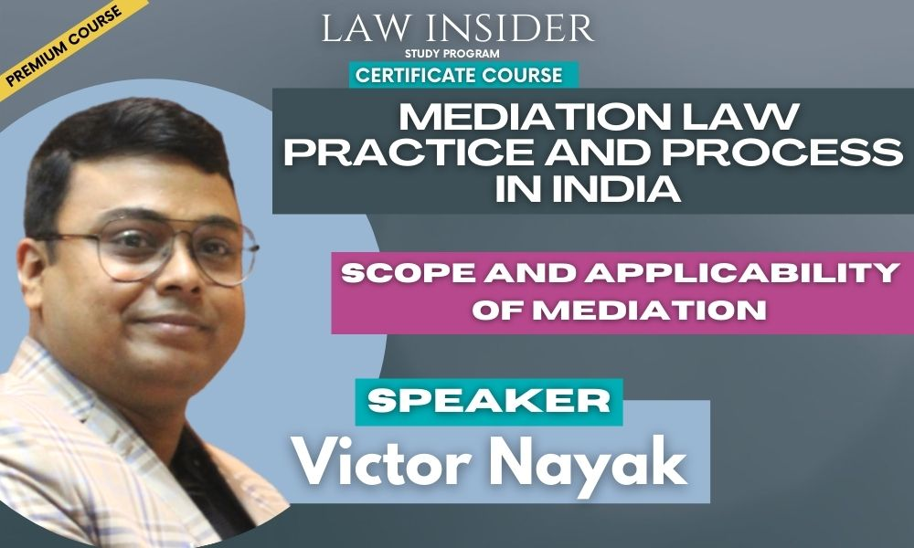 Mediation Law Practice and Process law insider certificate course
