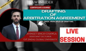 DRAFTING OF ARBITRATION AGREEMENT Law Insider Certificate Course by Victor Nayak