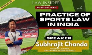 practice of sports law in India )